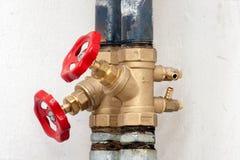 Red valve Royalty Free Stock Photos