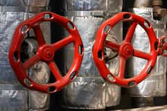 Red valves Royalty Free Stock Photography