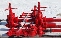Red valves Royalty Free Stock Image