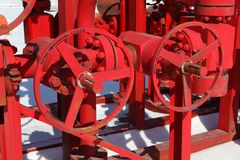 Red valves Stock Photos