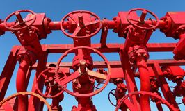 Red valves Stock Image