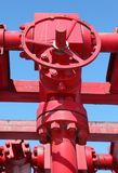Red valves Stock Photo