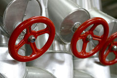 Red valves royalty free stock photo