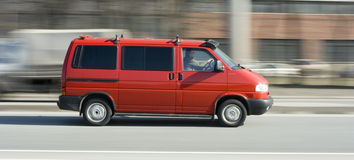 Red van car truck (lorry) Royalty Free Stock Photography