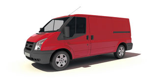 Red van Royalty Free Stock Photography