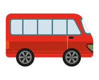 Red van isolated icon design Royalty Free Stock Photos