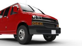 Red Van Lower Front Cutout Shot illustrazione vettoriale