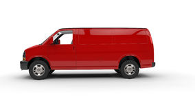 Red Van - Side View Stock Photos