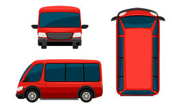 A red van Royalty Free Stock Photography