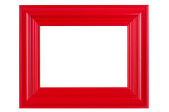 Red varnished picture frame Royalty Free Stock Photo