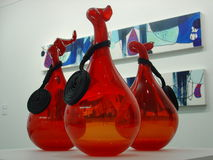 Red Vases. Three red vases Stock Photography