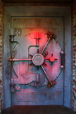 Red vault door Stock Photos