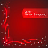 Red vector abstract background Stock Photography