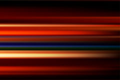 Red vector abstract speed motion blur of night lights in the cit. Y long exposure background Vector Illustration