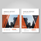 Red Vector annual report Leaflet Brochure Flyer template design, book cover layout design, Abstract blue presentation templates Stock Photos
