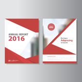 Red Vector annual report Leaflet Brochure Flyer template design, book cover layout design, Abstract red templates set Stock Photo