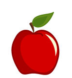 Red vector apple. Red delicious apple over white. Vector illustration Stock Photography