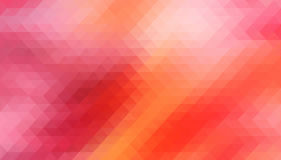 Red Vector. background with triangles shapes Stock Images