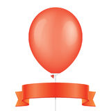 Red vector balloon and ribbon Royalty Free Stock Photo