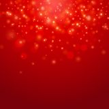 Red vector bokeh background. Holiday abstract Red vector bokeh light background Royalty Free Illustration