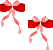 Red vector bow isolated on white Royalty Free Stock Images