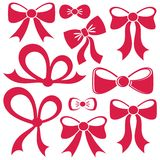 Red vector bows Stock Images