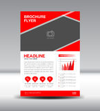 Red Vector Brochure Flyer template Royalty Free Stock Image