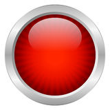 Red vector button Stock Photography