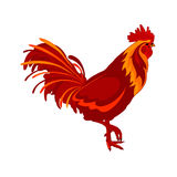 Red vector cock. Red Cock. Vector Image. Happy New Year 2017 Stock Photos