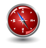 Red vector compass Royalty Free Stock Photos