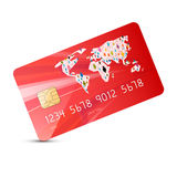 Red Vector Credit Card Illustration Stock Image