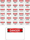 Red vector danger signs Royalty Free Stock Photos
