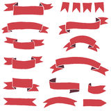 Red vector flags Stock Photos