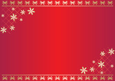 Red vector floral card with gradient Stock Image