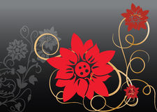 Red vector flower Royalty Free Stock Photos