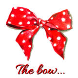 Red vector gift bow with polka dot.  Vector. Royalty Free Stock Photography