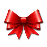 Red vector gift bow Royalty Free Stock Image