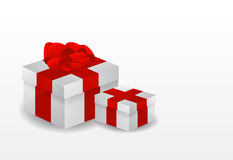 Red vector gift box Stock Image
