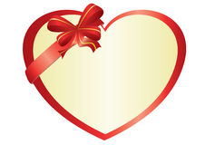 Red vector heart with bow-knot Stock Photo