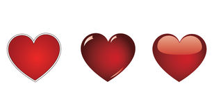 Red vector heart collection Stock Image