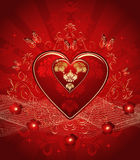Red vector hearts Stock Image