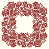 Red Vector Lace. Stock Images