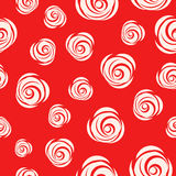 Red Vector Looped Background with Roses. Looped Texture Background with white Roses. Red Vector Background in flat style royalty free illustration