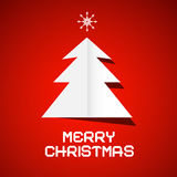 Red Vector Merry Christmas Background Royalty Free Stock Images