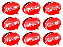 Red vector price tags Royalty Free Stock Photography