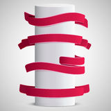 Red vector ribbon set for Valentine's day Stock Image