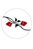 Red vector roses Stock Photo