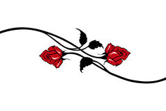 Red vector roses Royalty Free Stock Image