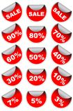 Red Vector sale Elements Stock Photos