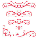 Red Vector Scroll Stock Photos